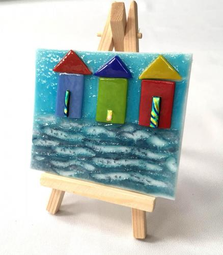 Mini Beach Hut Picture with easel